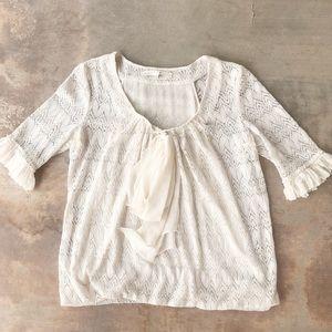 3.1 Phillip Lim Cream Ivory Lace Women's Blouse